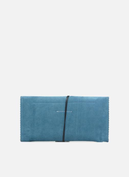 Bolsos Clutch MM6 Martin Margiela S54WF0017 Azul vista de frente