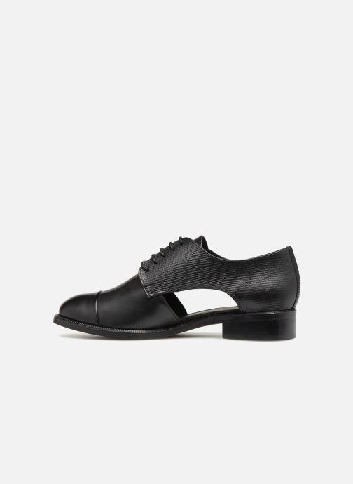 Zapatos con cordones COSMOPARIS Elair Negro vista de frente