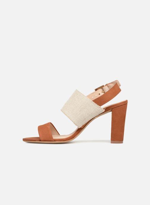 Sandals COSMOPARIS Jidea Brown front view