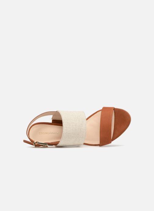 Sandales et nu-pieds COSMOPARIS Jidea Marron vue gauche
