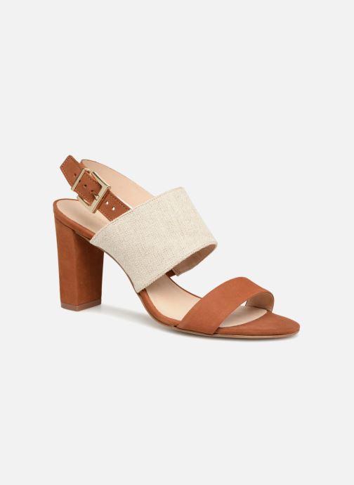 Sandals COSMOPARIS Jidea Brown detailed view/ Pair view