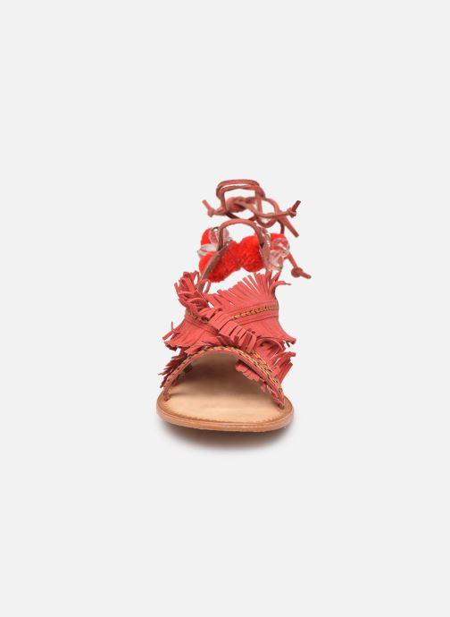 Sandales et nu-pieds Vero Moda 10196039 Rouge vue portées chaussures