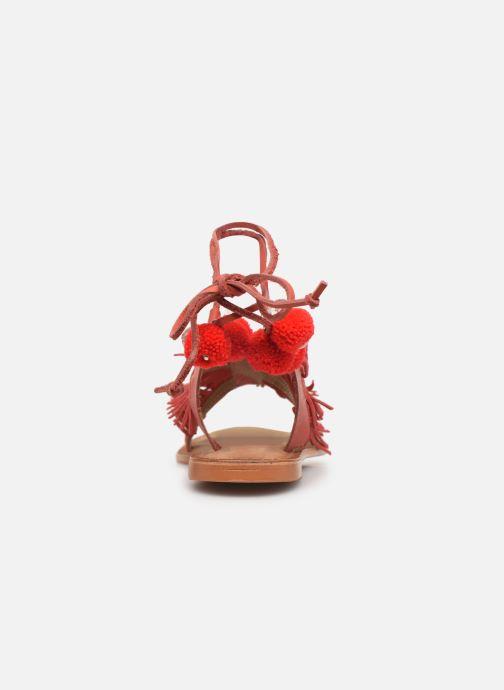 Sandalias Vero Moda 10196039 Rojo vista lateral derecha