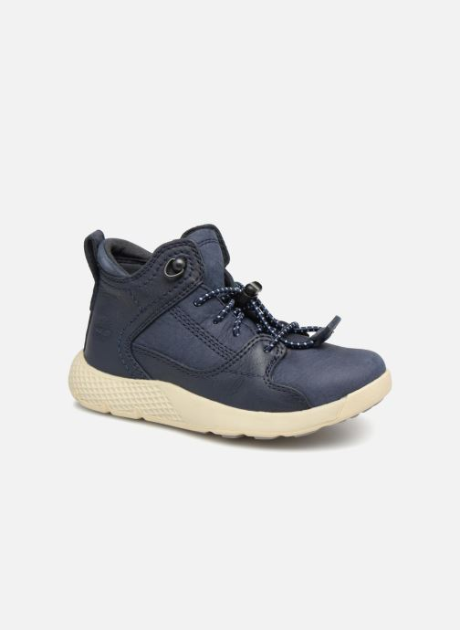Baskets Timberland FlyRoam Leather Bleu vue détail/paire