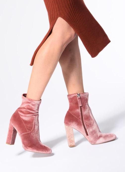 Stiefeletten & Boots Steve Madden Edit Ankle Boot rosa ansicht von unten / tasche getragen