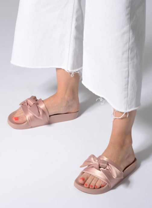 Mules & clogs Steve Madden Silky Sandal Pink view from underneath / model view