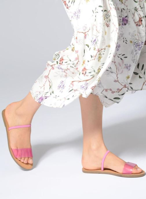Mules & clogs Steve Madden Dasha Flat Sandal Pink view from underneath / model view