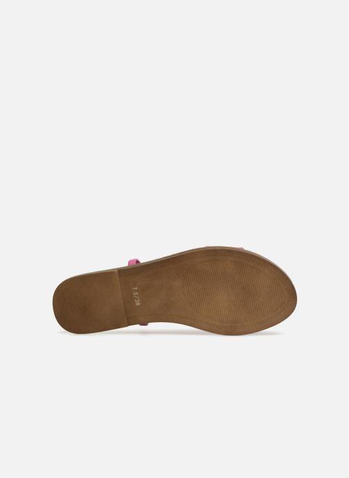 Wedges Steve Madden Dasha Flat Sandal Roze boven