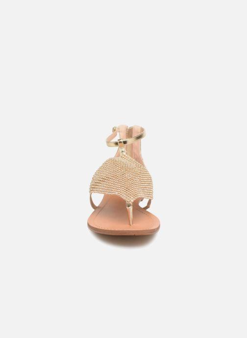 Sandales et nu-pieds Steve Madden Cord Flat Sandal Or et bronze vue portées chaussures