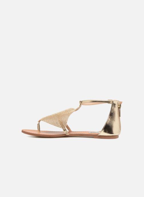 Sandales et nu-pieds Steve Madden Cord Flat Sandal Or et bronze vue face