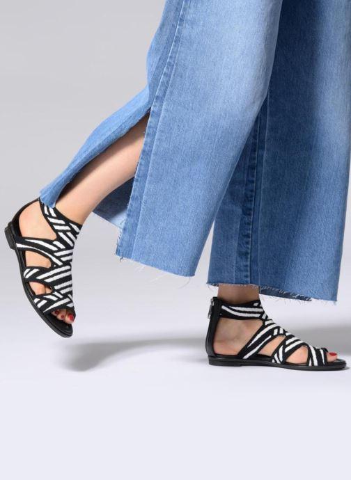 Sandalen What For Effy Lo schwarz ansicht von unten / tasche getragen
