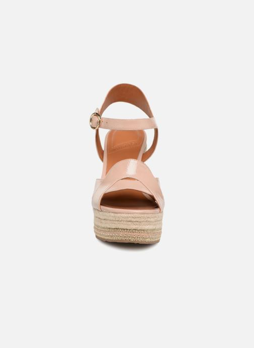 Espadrilles What For Christine Beige vue portées chaussures