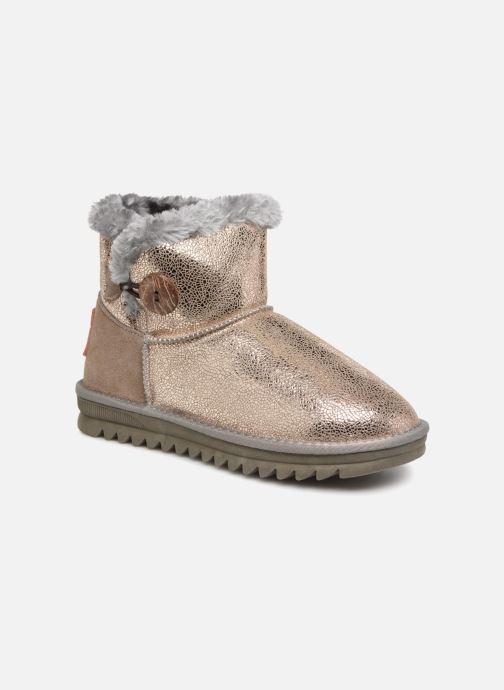 Ankle boots Les Tropéziennes par M Belarbi Jaipur Bronze and Gold detailed view/ Pair view