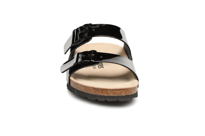Mules et sabots Les Tropéziennes par M Belarbi Palmyre Noir vue portées chaussures