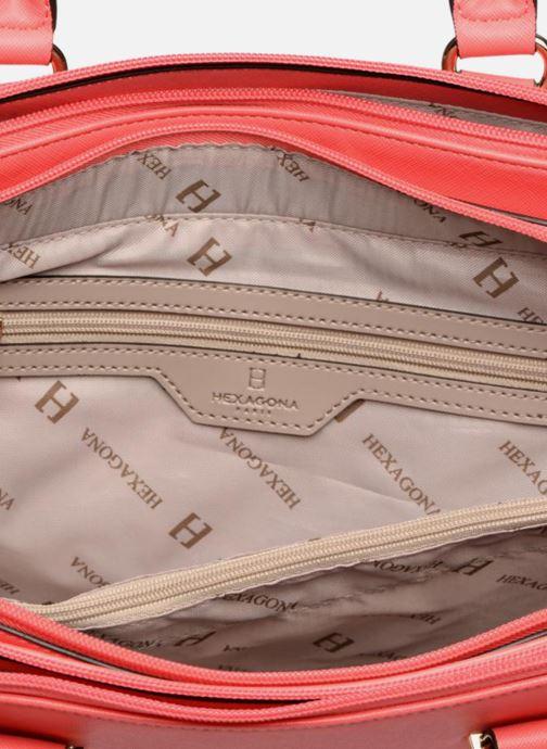 Handtassen Hexagona Confidence Porté main 3 compatiments Roze achterkant