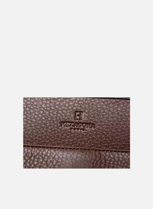 Handtaschen Hexagona 915504 braun ansicht von links