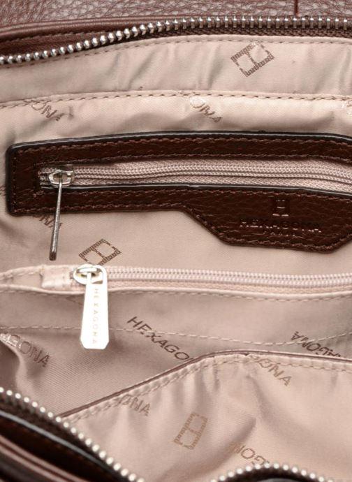 Handbags Hexagona 915507 Brown back view