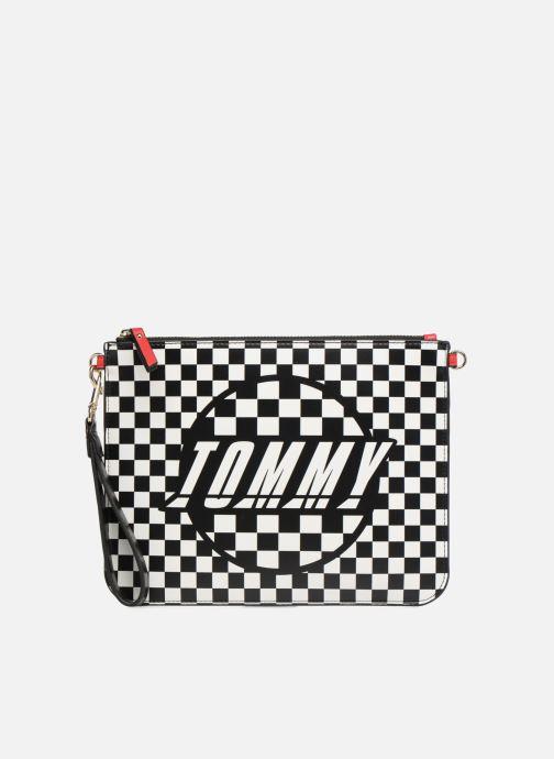 Bolsos de mano Tommy Hilfiger Pochette Checker board Negro vista de detalle / par