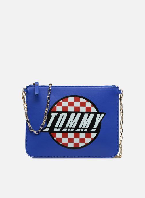 Bolsos de mano Tommy Hilfiger Pochette Surf the web Azul vista de detalle / par