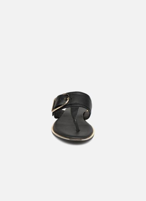 Mules et sabots Tommy Hilfiger Tong Black/Gold Noir vue portées chaussures