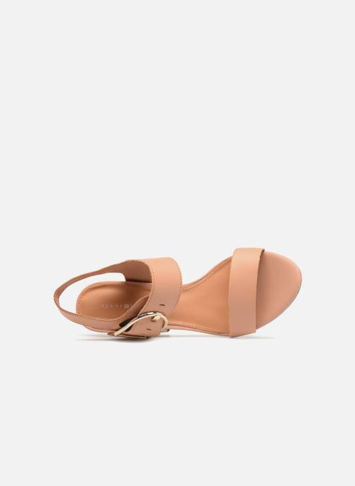 Sandales et nu-pieds Tommy Hilfiger Sandales à talon Silky Nude Beige vue gauche