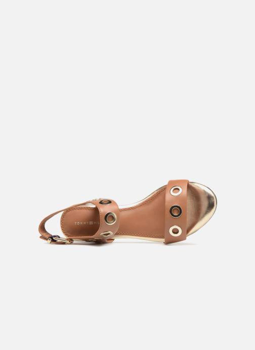 Sandales et nu-pieds Tommy Hilfiger Sandales à talon Summer Cognac Marron vue gauche