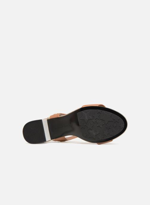 Sandales et nu-pieds Tommy Hilfiger Sandales à talon Summer Cognac Marron vue haut