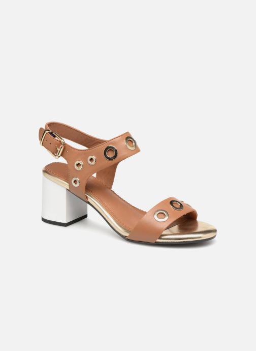 Sandales et nu-pieds Tommy Hilfiger Sandales à talon Summer Cognac Marron vue détail/paire