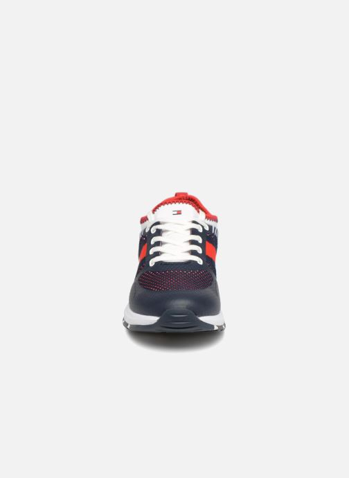 Baskets Tommy Hilfiger Sneakers Blu/Bianco Bleu vue portées chaussures