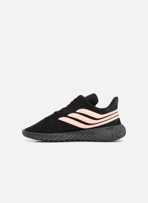Sneakers adidas originals Sobakov Modern J Zwart voorkant