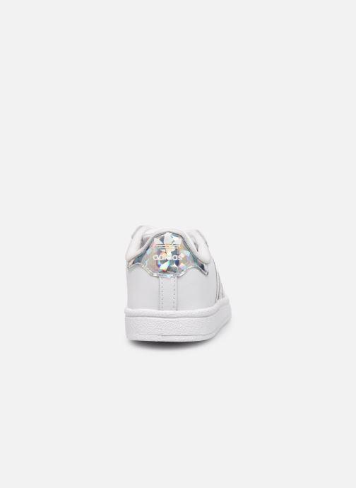Sneaker adidas originals Superstar EL I weiß ansicht von rechts
