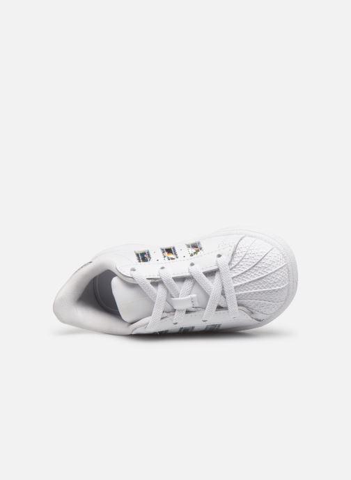 Baskets adidas originals Superstar EL I Blanc vue gauche