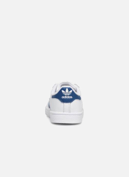 Baskets adidas originals Superstar EL I Blanc vue droite