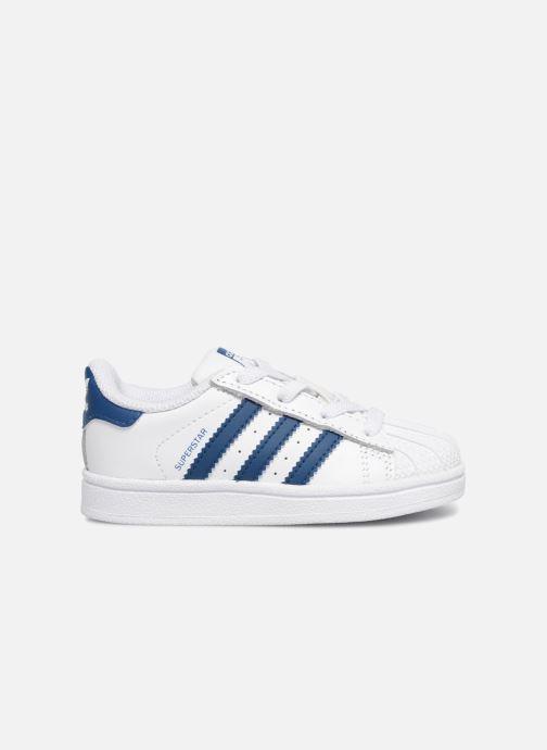 Baskets adidas originals Superstar EL I Blanc vue derrière