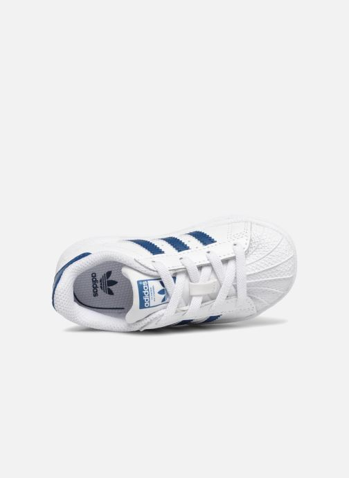 Baskets adidas originals Superstar EL I Blanc vue gauche