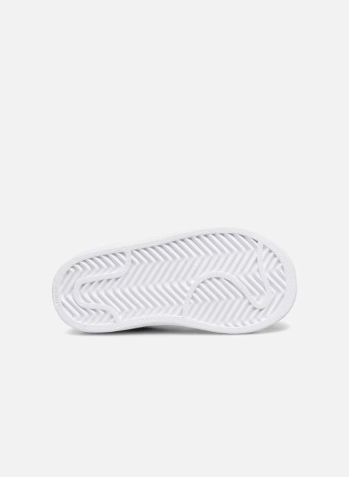 Baskets adidas originals Superstar EL I Blanc vue haut