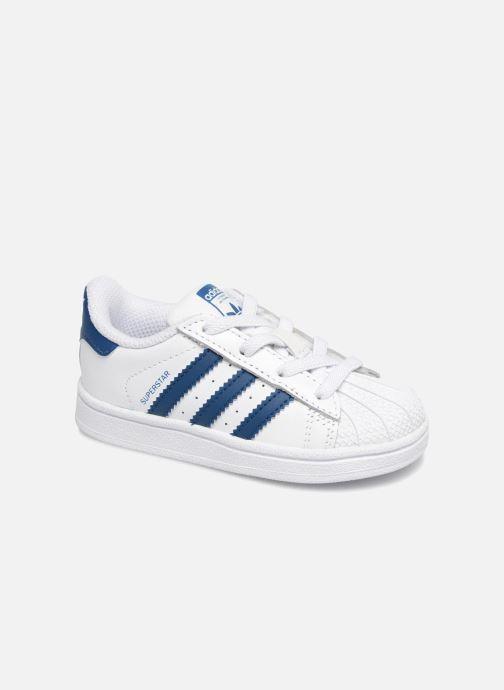 Baskets adidas originals Superstar EL I Blanc vue détail/paire