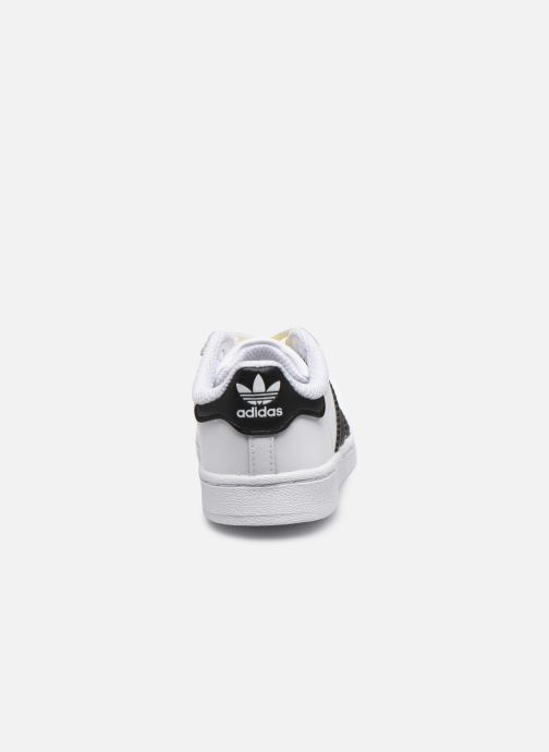 Deportivas adidas originals Superstar EL I Blanco vista lateral derecha