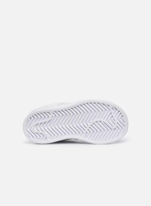 Baskets adidas originals Superstar EL I Blanc vue haut
