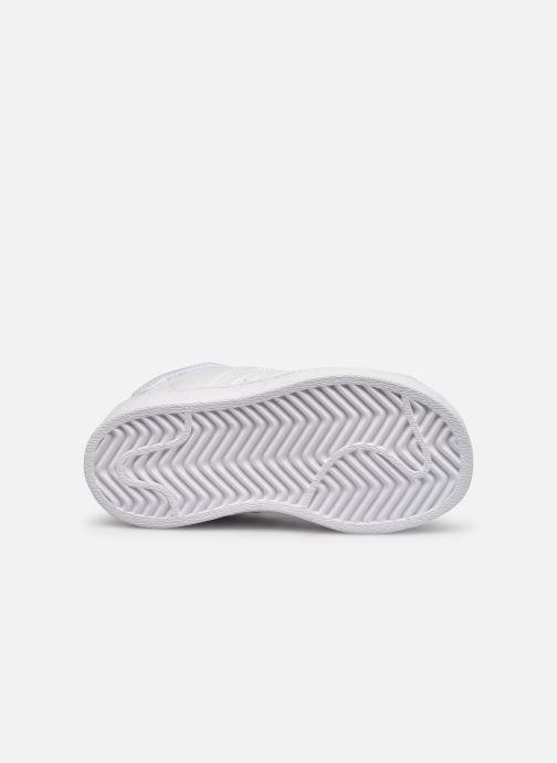 Sneakers adidas originals Superstar EL I Bianco immagine dall'alto