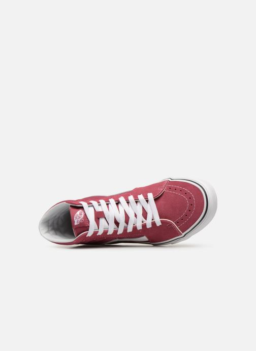 Trainers Vans SK8 Hi Pink view from the left
