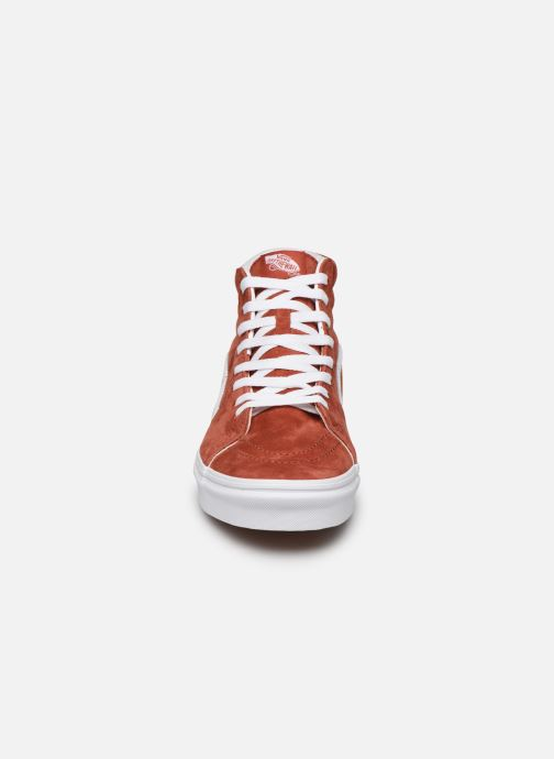 Baskets Vans SK8 Hi Orange vue portées chaussures