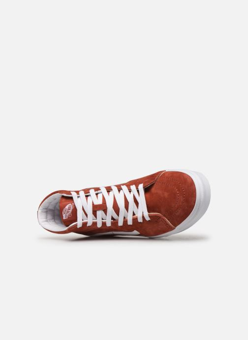 Baskets Vans SK8 Hi Orange vue gauche