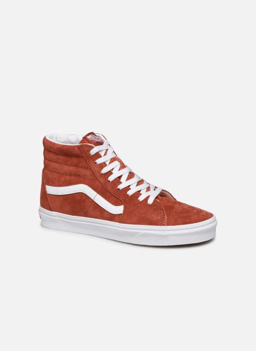 Baskets Vans SK8 Hi Orange vue détail/paire