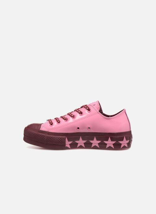 Trainers Converse Chuck Taylor All Star Lift Ox Miley Cyrus Pink front view