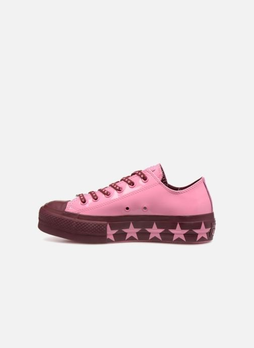 Sneakers Converse Chuck Taylor All Star Lift Ox Miley Cyrus Rosa immagine frontale