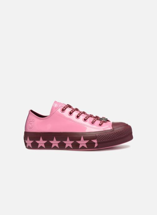 Trainers Converse Chuck Taylor All Star Lift Ox Miley Cyrus Pink back view