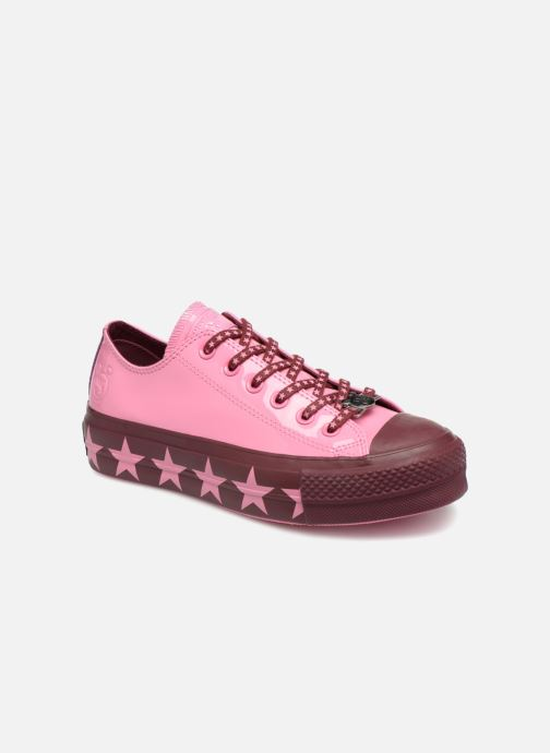 52daf313b27 Trainers Converse Chuck Taylor All Star Lift Ox Miley Cyrus Pink detailed  view  Pair view