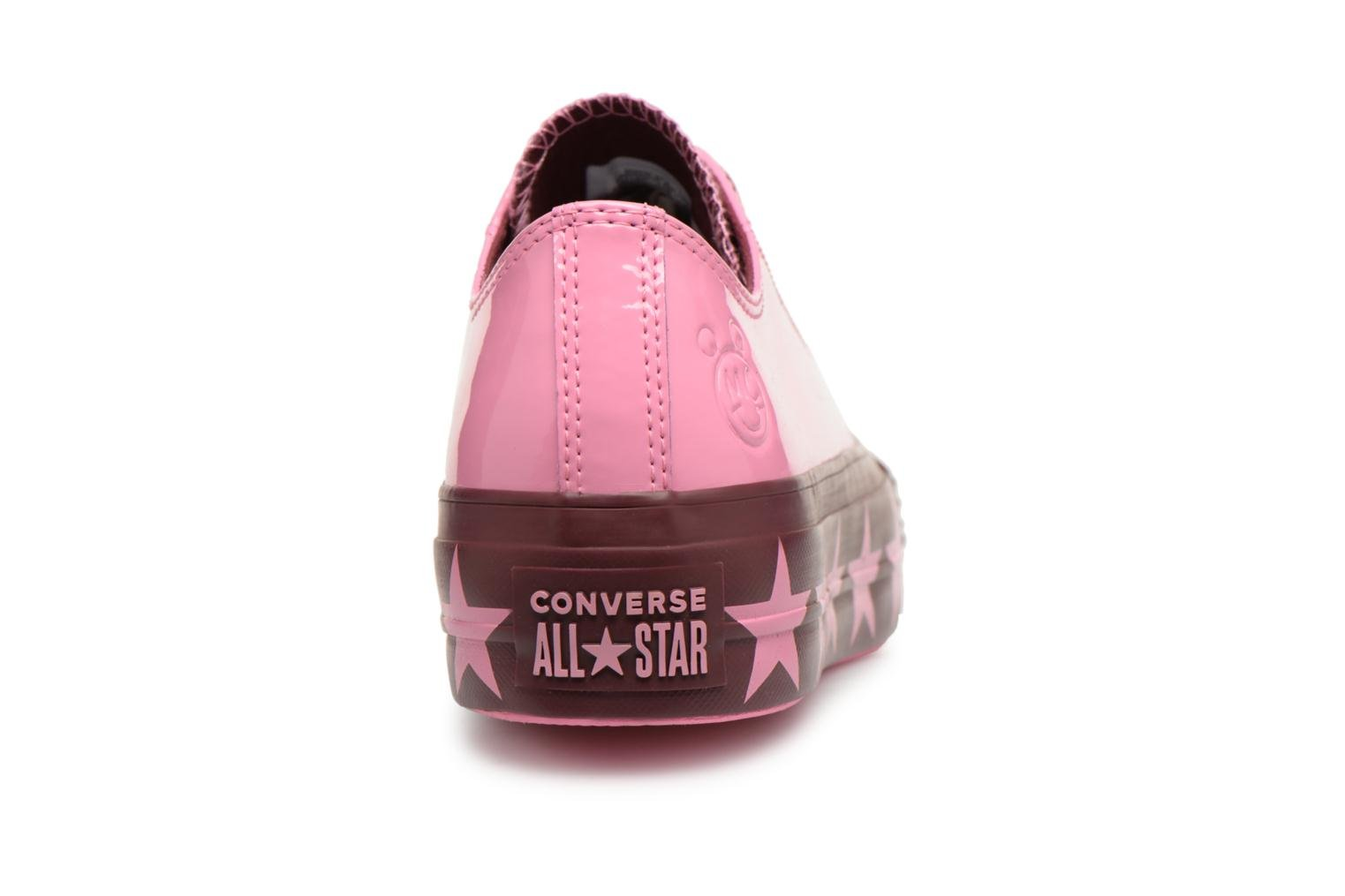 Sneakers Converse Chuck Taylor All Star Lift Ox Miley Cyrus Rosa immagine destra