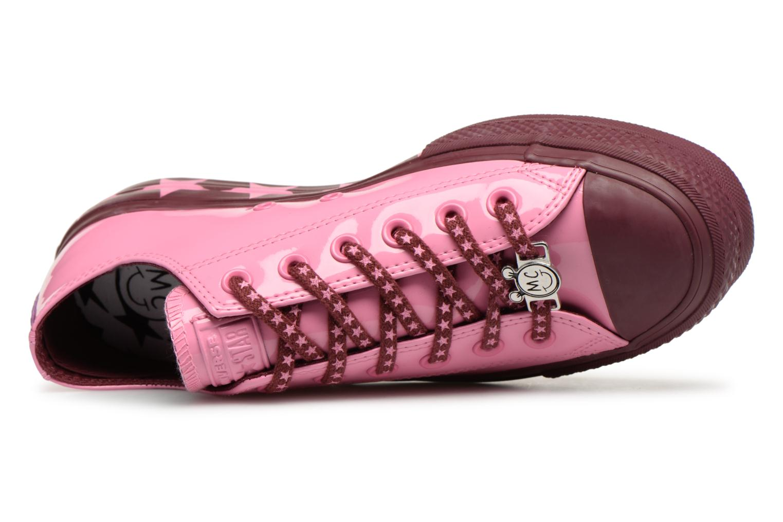 Sneakers Converse Chuck Taylor All Star Lift Ox Miley Cyrus Rosa immagine sinistra